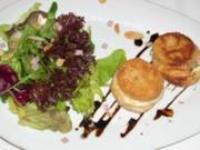 Stars and Salad - aus Schinken, Käse und Toast - Rezept