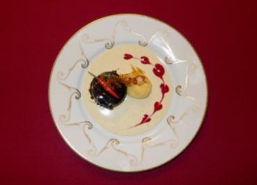 Schokotörtchen an Mango-Sorbet - Miss Mango meets Mr Chocolate - Rezept