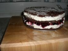 Waldfrucht KakaoBiskuit-Torte - Rezept