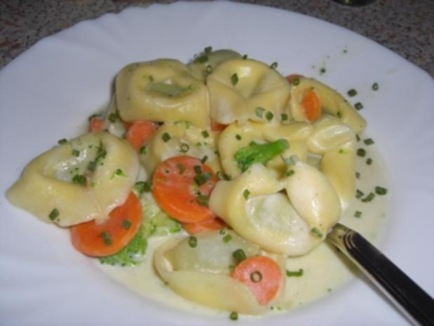 Tortellini mit Gemüse - Rezept