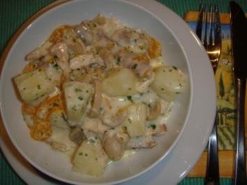 Fleischgerichte: Hühnerfrikassee - Rezept