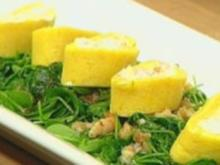 Kartoffelroulade mit Ziegenkäse und Garnelen - Rezept