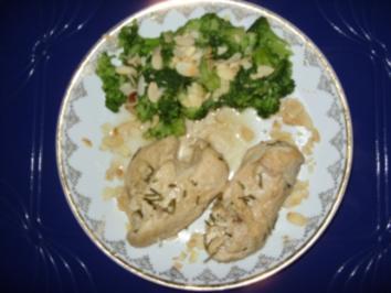 Hähnchenbrustfilet mit Mandel-Brokkoli - Rezept