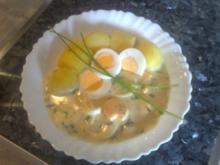 Eier in Dill-Sahne-Soße - Rezept