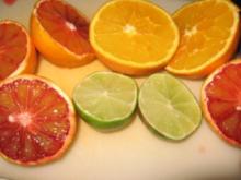 Buttermilchspeise mit Blutorangen & Limetten - Rezept