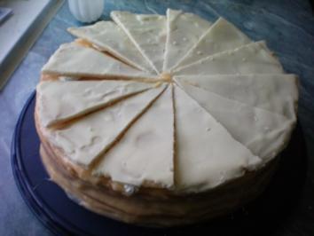 Zitronen-Marzipan-Torte - Rezept