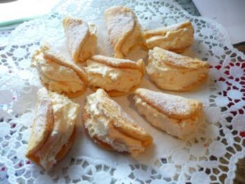 Bisquit Omelett mit Mandarinen Creme - Rezept