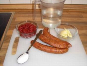 Makkaroni mit Tomaten-Mettwurst-Sosse - Rezept