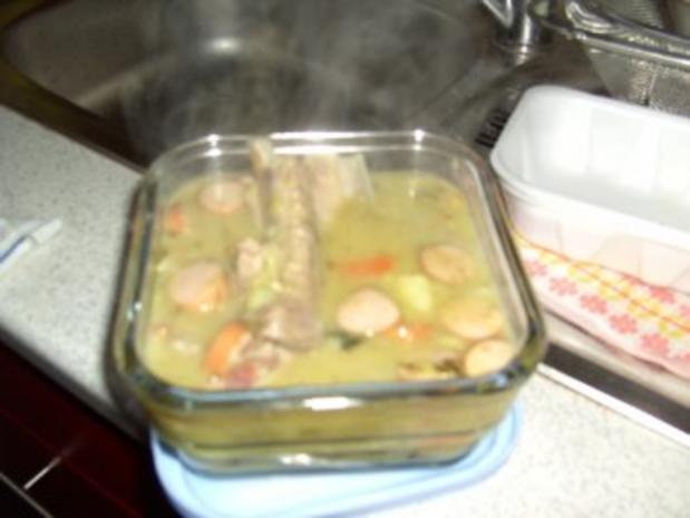 Erbsensuppe mit Eisbein und Rippchen - Rezept - Bild Nr. 6