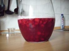 Weißbierbowle mit Himbeeren - Rezept