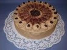 Feine Mokka-Sahne- Torte - Rezept