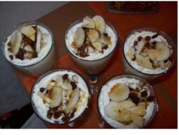 Bananen-Joghurt-Quark mit Nüssen - Rezept