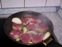 Gratiniertes Schweinefilet mit Zitronen-Hollandaise - Rezept