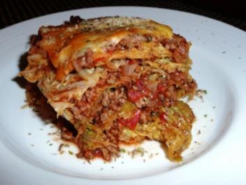 Bolognese Lasagne mit Wirsing - Rezept