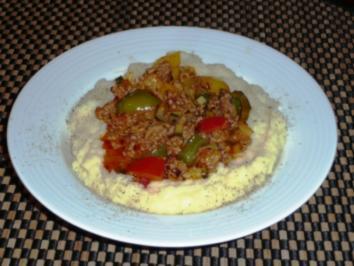 Hackfleisch mit Paprikagemüse - Rezept
