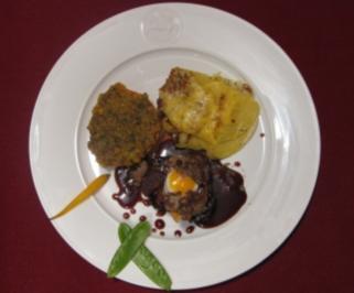 Filet Rossini mit Sieglinde-Gratin und Krusten-Tomate - Rezept