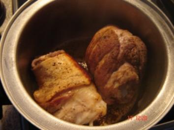 Eisbein mit Pfefferkuchensoße - Rezept