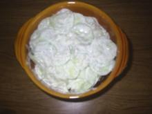 Salat - Gurkensalat mit saurer Sahne - Rezept