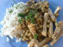 Erbsen-Schnitzel-Pfanne - Rezept