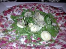 rucola salat mit palmherzen  und trüffelöl - Rezept