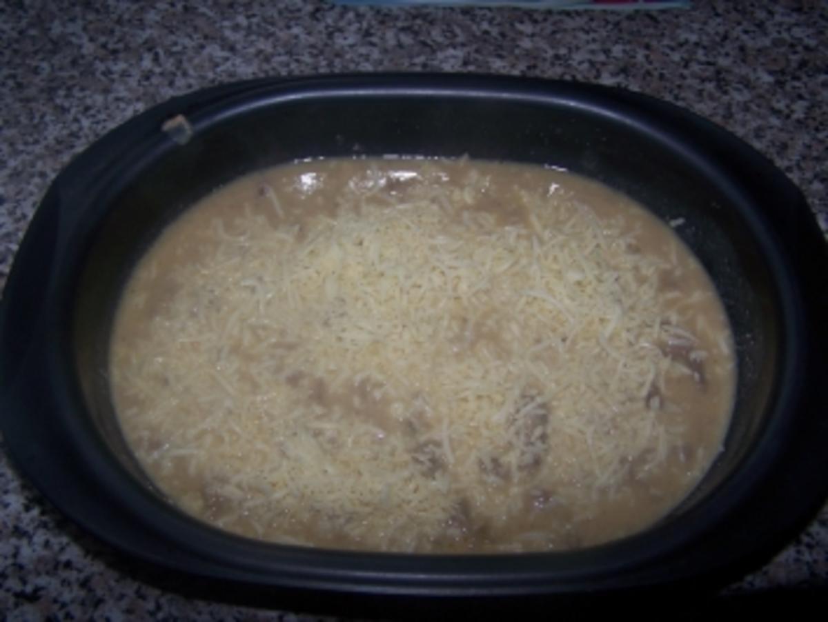 Würzfleisch vom Kalb mit Käse überbacken - Rezept Durch sonnidud