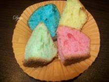 Bunter Fantakuchen für den Kindergeburtstag (Blechkuchen/Muffins) - Rezept