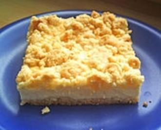 Käse - Streuselkuchen mit Vollkornmehl - Rezept