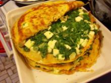 Haferpfannkuchen mit Spinatfüllung - Rezept