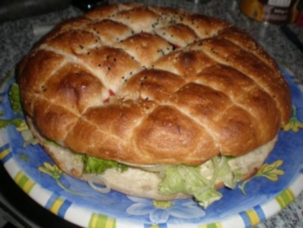 Riesen-Hamburger - Rezept Gesendet von babylou18