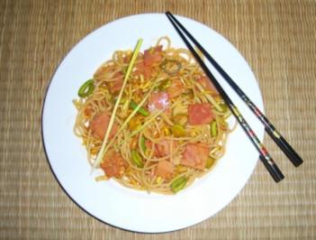 China-Nudelsalat - Rezept