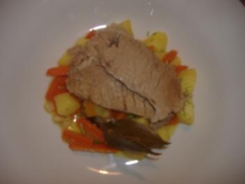 Kalbstafelspitz mit Bouillonkartoffeln und grüner Sauce - Rezept