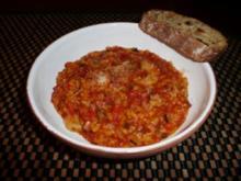 Buntes Gemüserisotto mit Kräutergarnelen und Safran - Rezept