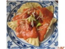 Schneckenposts Ravioli mit Parmaschinken-Ricotta-Fülle - Rezept
