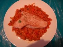 Kurzgebratenes: Putenschnitzel mit Wintergemüse-Tomaten-Reis - Rezept