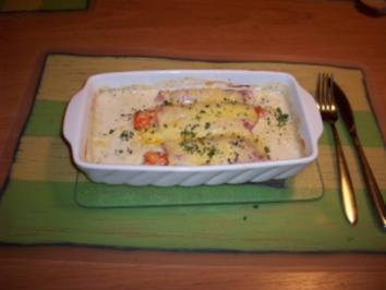 Überbackene Käse- Möhren - Rezept