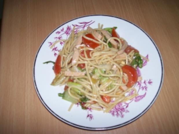 Spaghettisalat Süß Sauer - Rezept