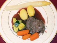 Rinderfilet an Rotweinsoße - Rezept