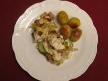Steinbeißerfilet im Champignon-Gemüsebett - Rezept