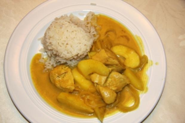 Apfel-Curry-Hähnchen - Rezept