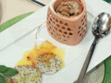 Törtchen von der Drachenfrucht mit Zuckerdekor a la de Santis - Rezept