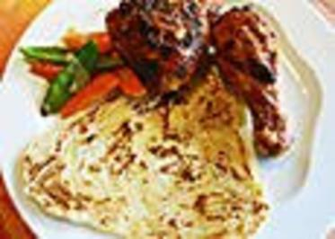 Tandoori Hähnchen mit Kartoffelspalten - Rezept