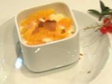 Mascarpone-Mousse mit Orangen-Hippe - Rezept