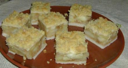 Kuchen: Gedeckter Apfelkuchen vom Blech - Rezept
