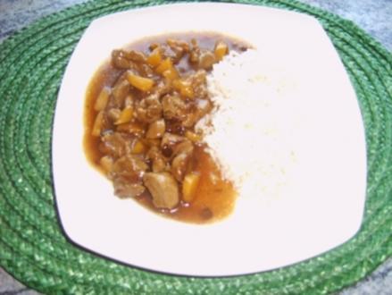 Putengulasch ```Florida```` - Rezept