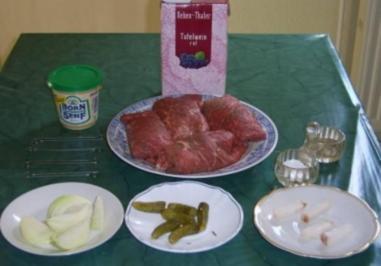 Thüringer Rinderrouladen Hausschlachter Art - Rezept