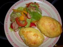 Kartoffeln mit dreierlei Käse - Rezept