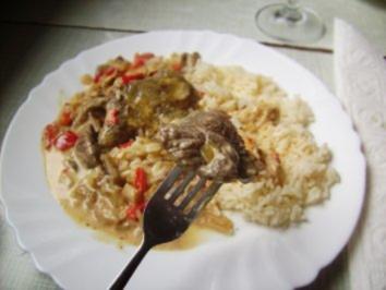 Rezept: Fleisch: Steaks  auf Austernpilzen in Paprika-Chilli Soße