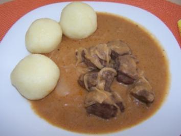 Bierfleisch mit Zwiebeln - Rezept