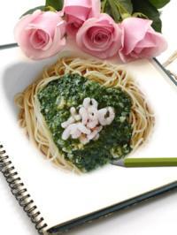 Spagehtti mit Scampi und Spinat - Rezept - Bild Nr. 1181