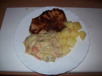 Lauch -Möhren Pfanne - Rezept